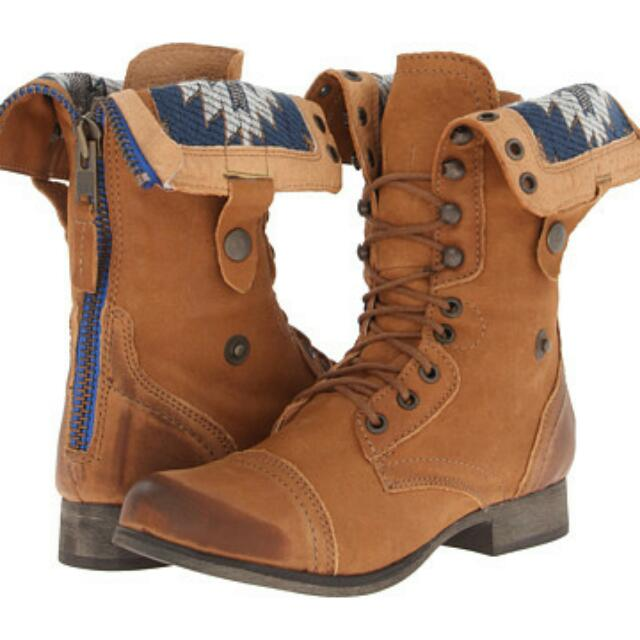 *REDUCED* Steve Madden Tan Chevie Combat Boots