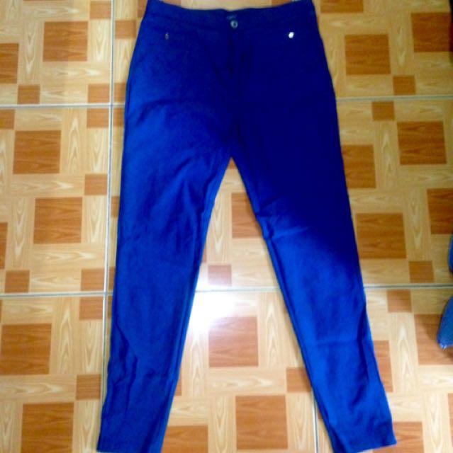 Stretchable Dark Blue Pants