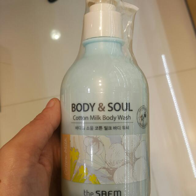 The Saem Cotton Milk Body Wash