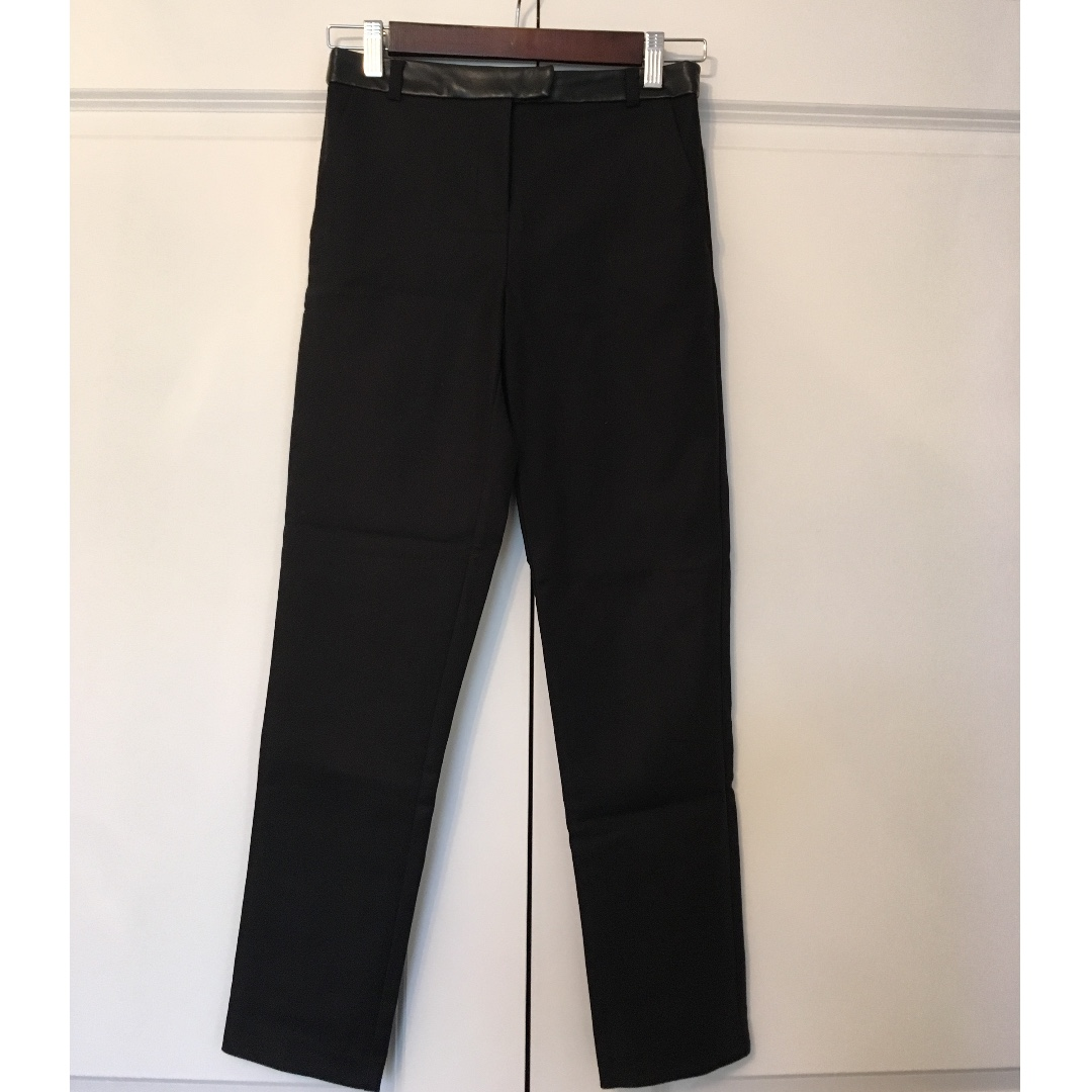 TOPSHOP BLACK CIGARETTE TROUSERS Size 2 $25