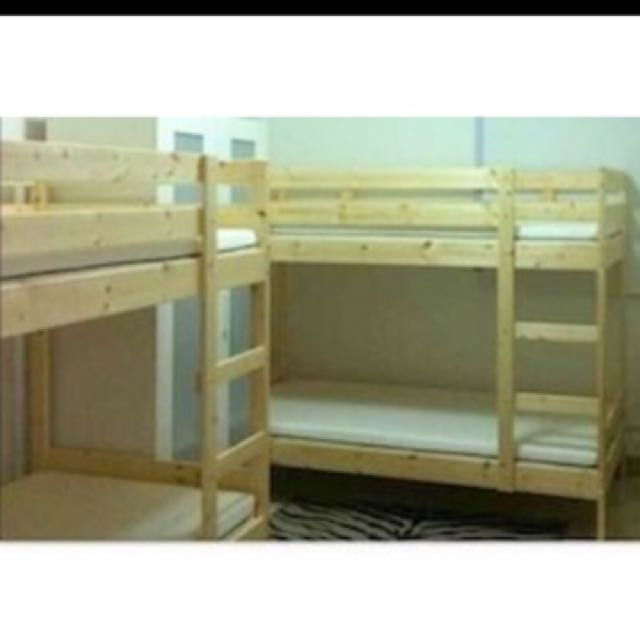 Used Wooden Bunk Beds Furniture Beds Mattresses On Carousell