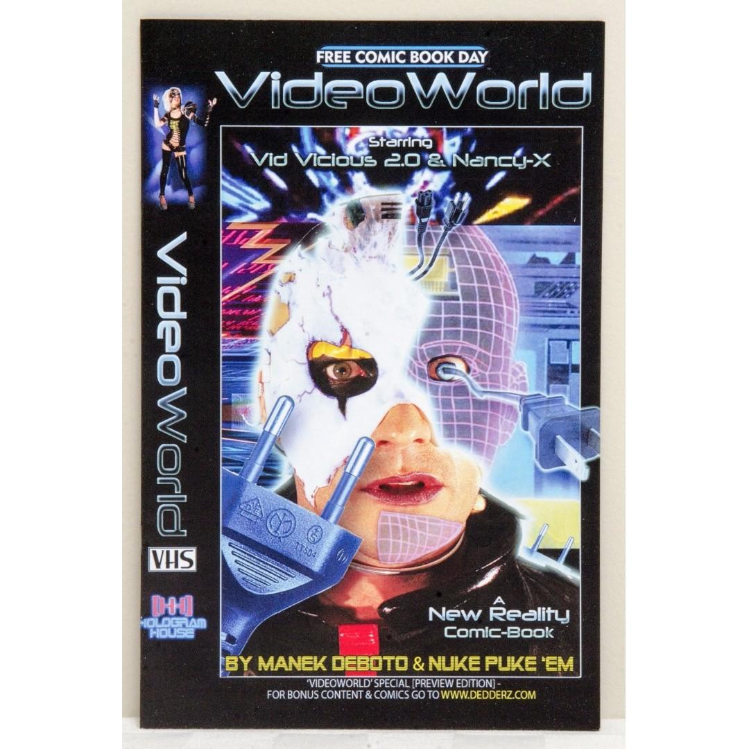 Video World Comic Book starring Vid Vicious 2.0 & Nancy-X - Free Comic Book Day