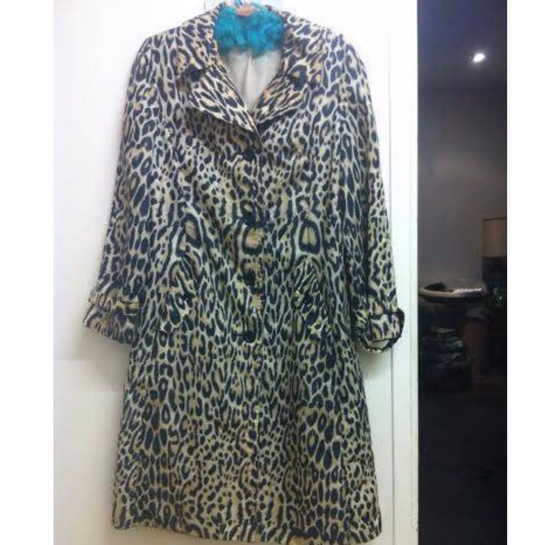 1960's animal print raincoat vintage