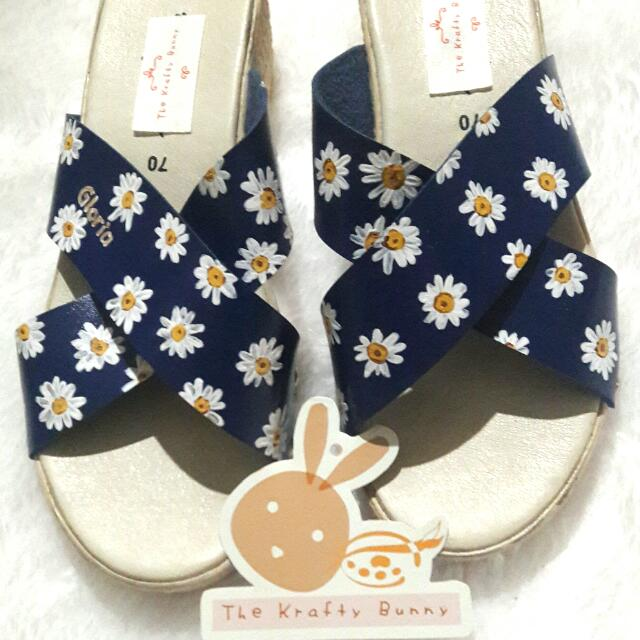 Vintage Daisy Custom Design Sandals