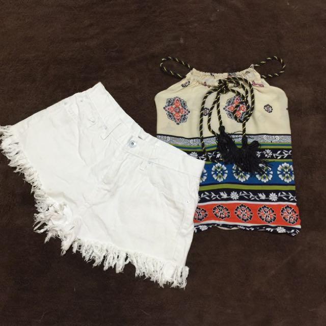 White HW Shorts