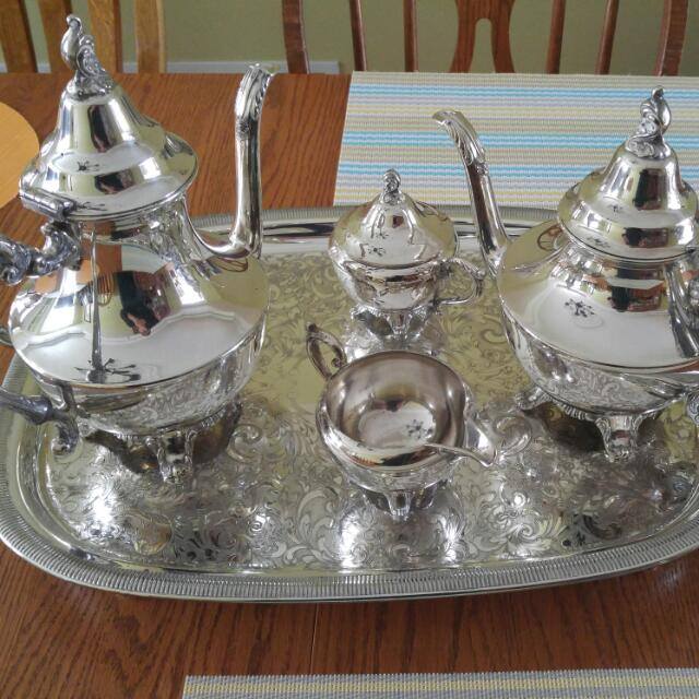 Wm. A. Rogers Silver Plated Tea Set.