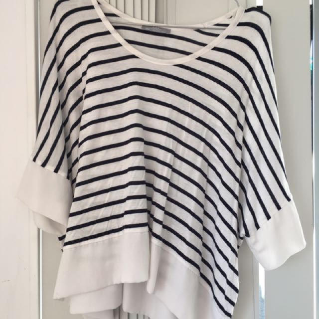 ZARA Striped Crop Top size L