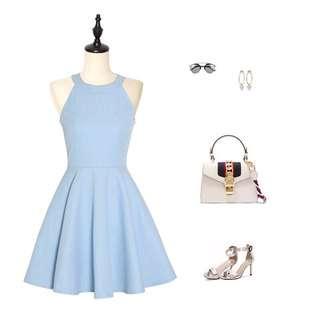 淺藍色小洋裝 謝師宴