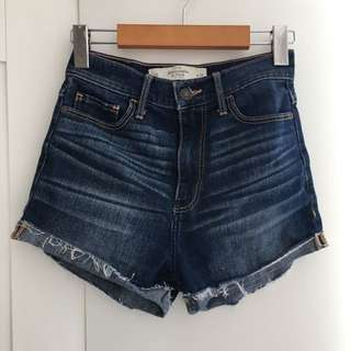 A&F 00 High Waisted Denim Shorts