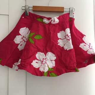 Hollister S Flower Print Skirt