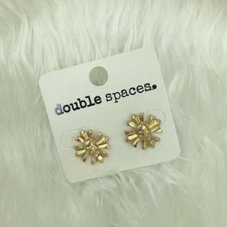 Gold Alloy Skull Cross Ear studs Earrings