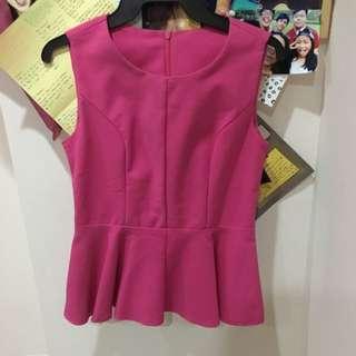 Pink Peplum Top
