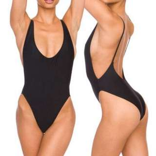 American apparel AA one piece High Rise Dupe
