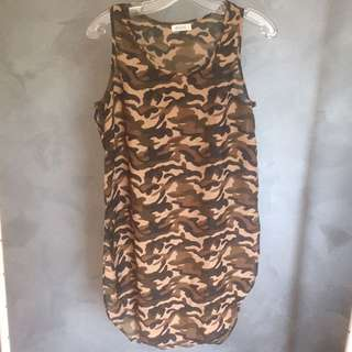 CAMO High And Low Sleeveless Dolphin Tail Tank Top