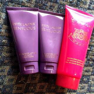 Estee Lauder & Victoria Secret Shower Gel And Body Lotion