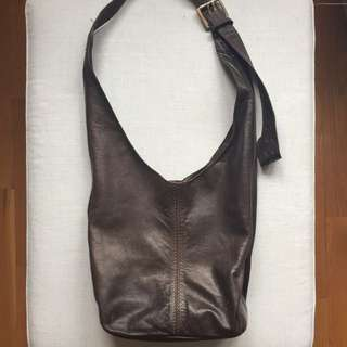 Roots Cross Body Leather Bag