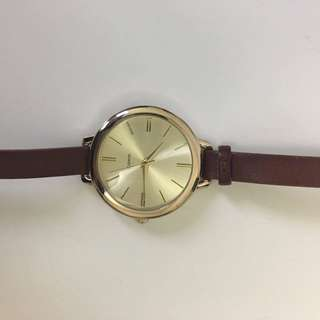 Brown Watch with Golden Rim