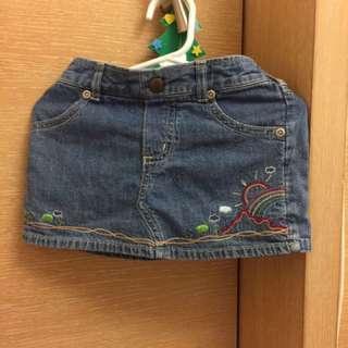 可愛牛仔口袋褲裙  適合3歲內