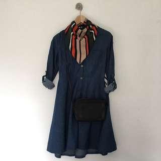 Button-Down Denim Dress / Size: S / Brand: YOYO5