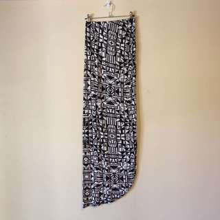 Aztec Asymmetrical Maxi Skirt Small