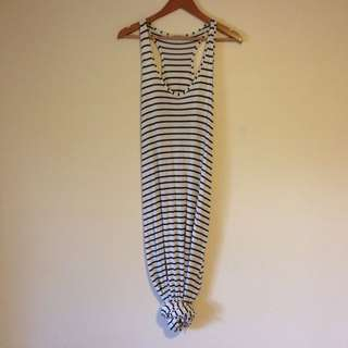 Striped Maxi Dress Size S/M