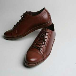 Sepatu Kulit Casual Boston Porto Brown