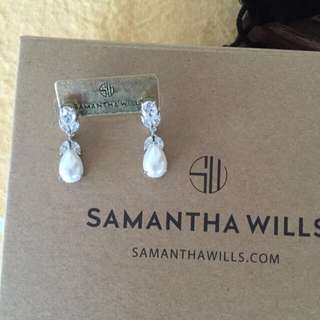 Samantha Wills Pearl Drop Bridal Earrings