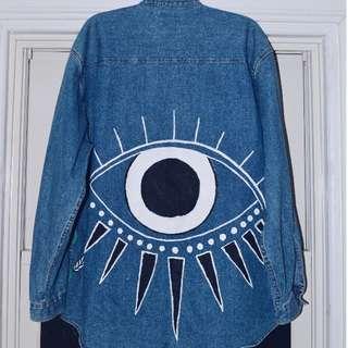 Evil Eye denim shirt