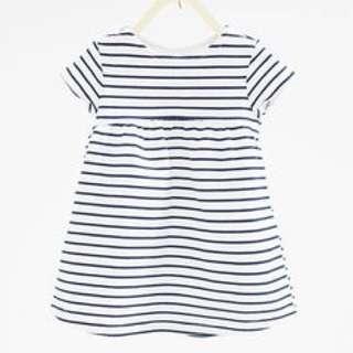 Zara Jacquard Dress (blue And White Stripes)