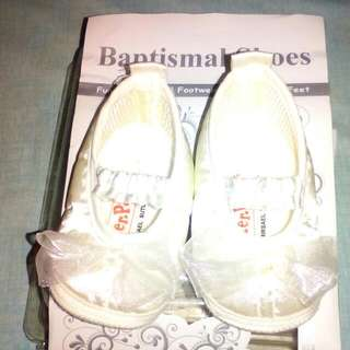 Pitter Pat Baptismal Shoes For Baby Girl