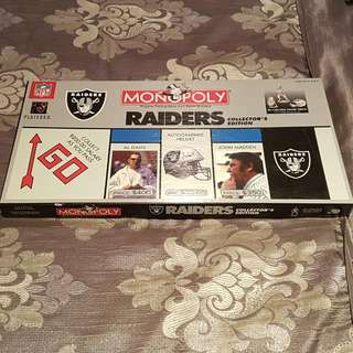 Monopoly RAIDERS FOOTBALL NFL Collectors Edition