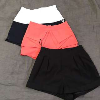3 Shorts For $20