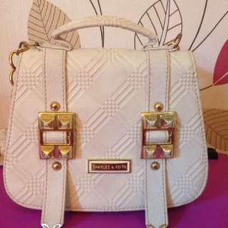 charles n keith bag white
