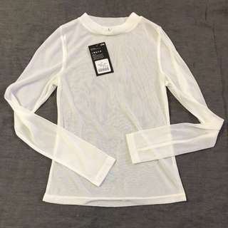 Live White Long sleeve Top