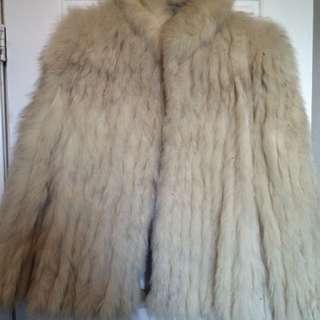 Genuine Fox Fur Coat, Women's Medium