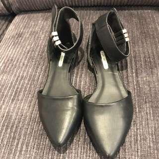 Black Flat Work Shoes Size 7