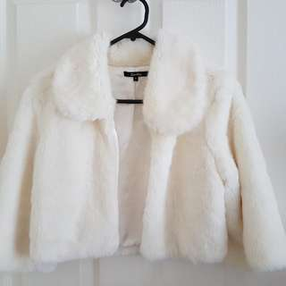 White Faux-Fur Jacket By Stella