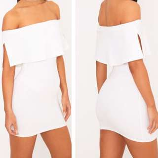 New Cute White Bodycon dress
