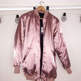 Pink Bomber Jacket - Pretty Little Thing - NEW