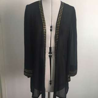 80's Style Sheer Gown Jacket