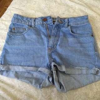 Topshop Highwaisted Denim Shorts