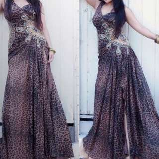 4 Layers Long Gown