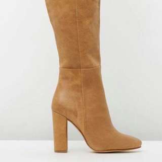 Wanted Brand Knee High Nude Boots