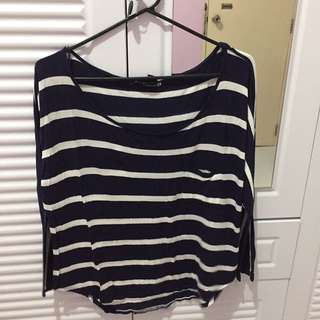 Forever 21 Stripes 3/4 Shirt
