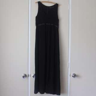 "AU14 WISH Black ""Fragile"" Maxi Dress"