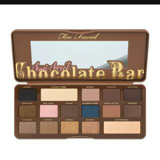 *reduced*Too Faced Semi Sweet Chocolate Bar Palette