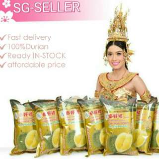 (In- Stock ) Freeze DURIAN Monthong Thailand #1 Durian Freeze 100% Pure Durian