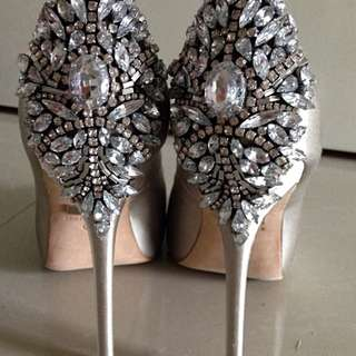 Badgely and Mischka wedding shoes