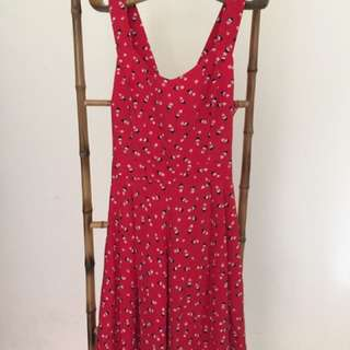 Red Camisole Dress
