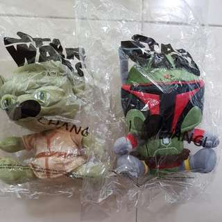 Star Wars Plush By Changi (Yoda / Boba Fett)
